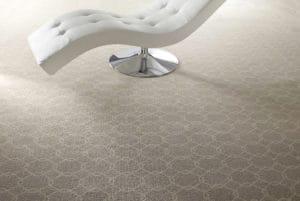 Printed wool carpet