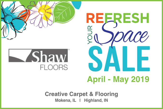 Thumbnail - Creative Carpet & Flooring Shaw Spring Sale 2019 Mokena and Highland