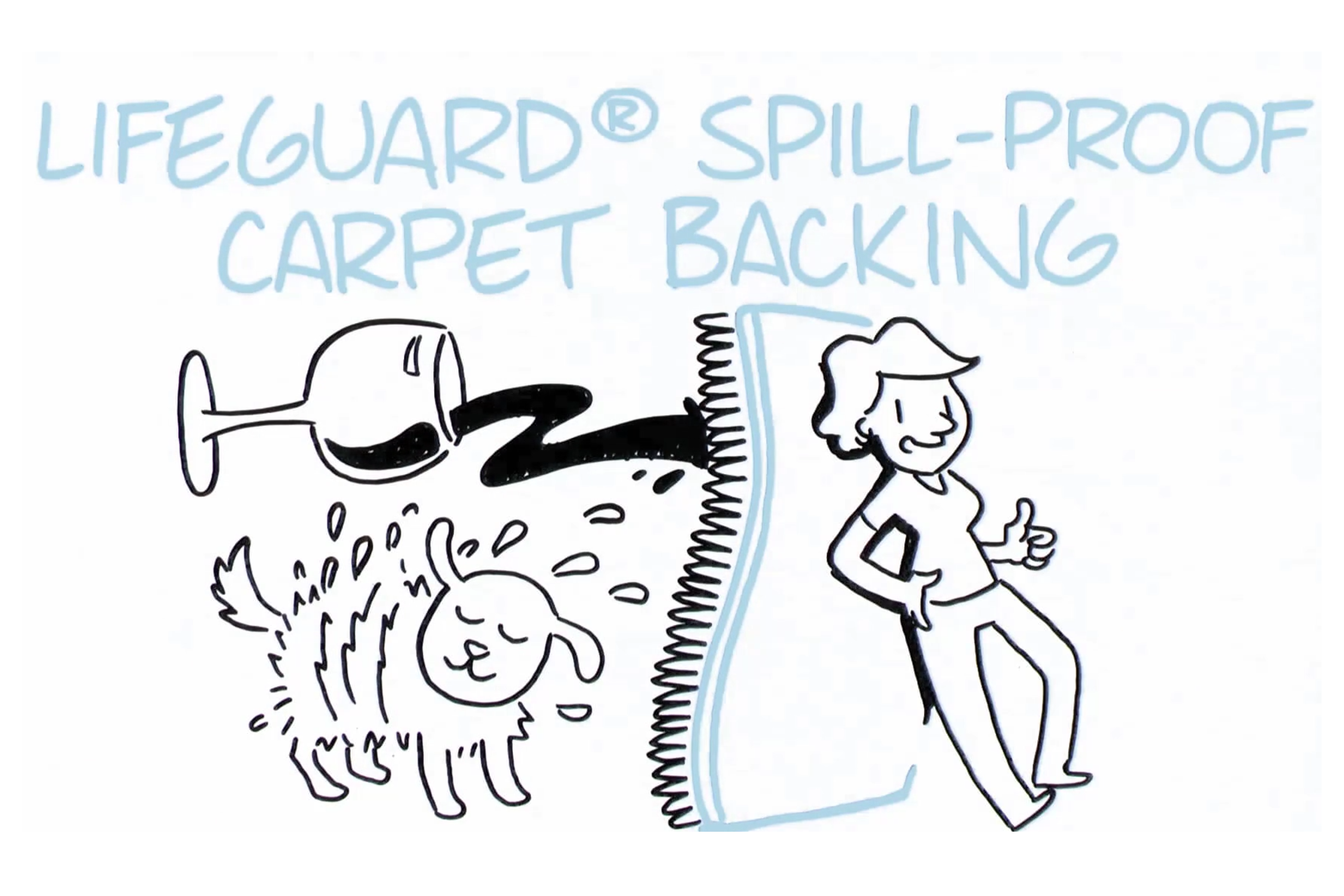 Thumbnail - Shaw LifeGuard spill-proof carpet backing