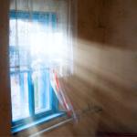 uv sun rays on flooring