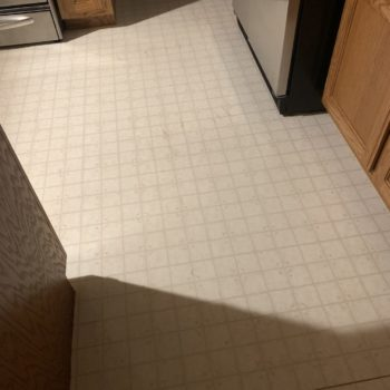 Ugly kitchen floor from the 90s