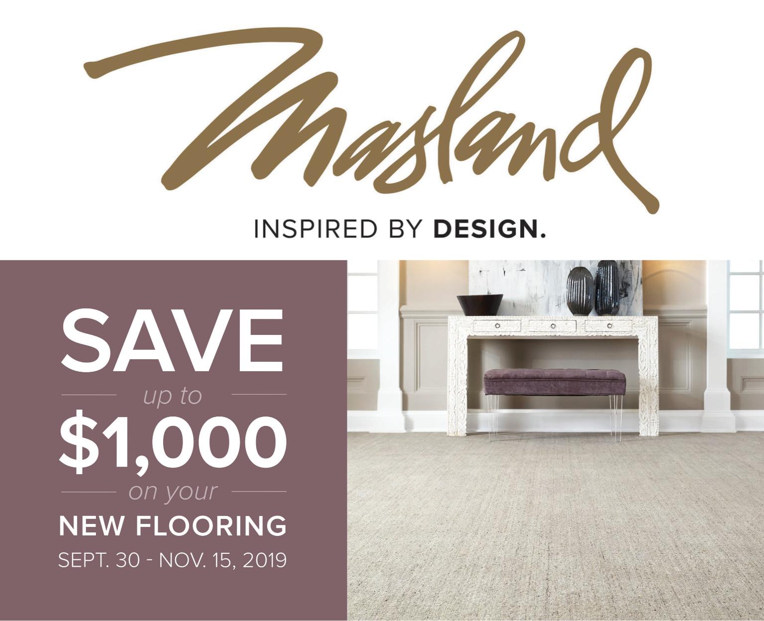 Masland Fall Consumer Rebate