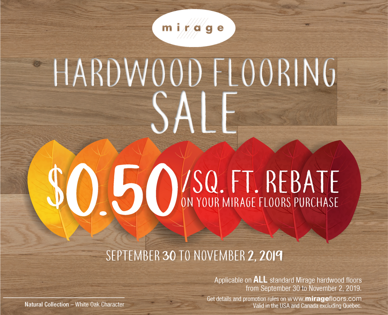 Mirage Hardwood Flooring Rebate