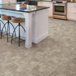 Brand: Kraus | Style: Panetola Tile Vinyl | Color: Talsano Travertine