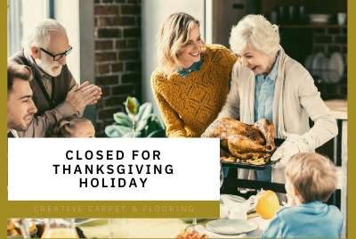 We Will Be Closed For The Thanksgiving Holiday Creative