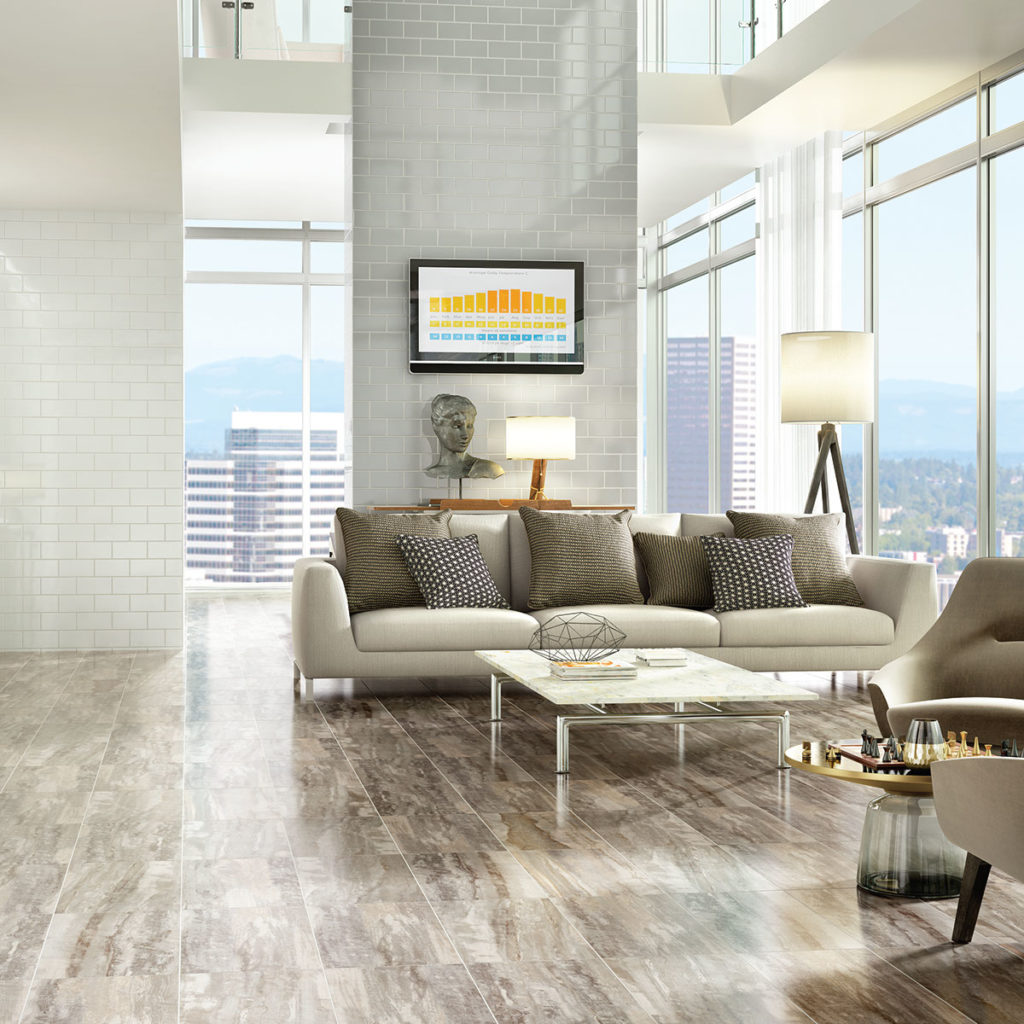 Brand: DalTile | Style: River Marble | Color: Sandy Flats