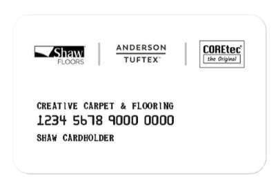 Creative Carpet and Flooring credit card