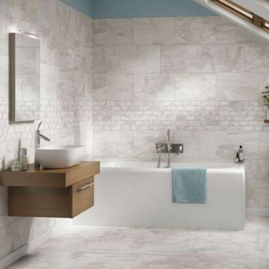 Brand: American Olean | Style: Laurel Heights™ GLAZED PORCELAIN | Color: Gray Summit