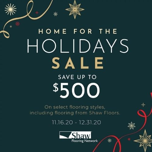 Shaw Home for the Holidays Sale