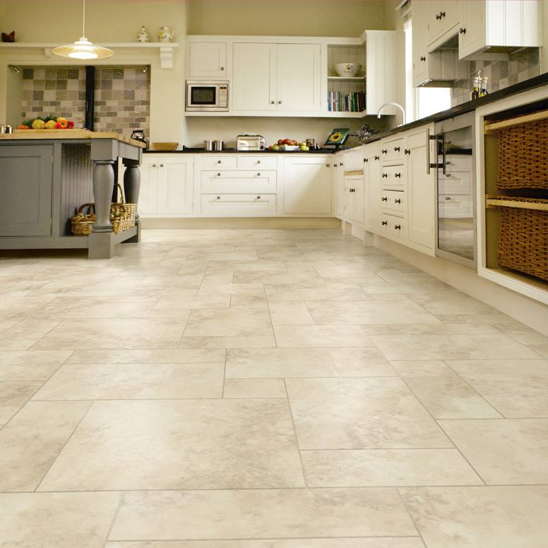 Karndean Luxury vinyl in limestone