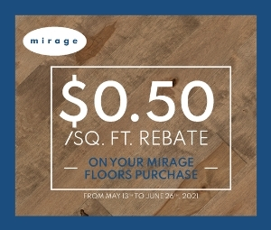 Mirage Spring 2021 Rebate Sale